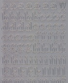 Zier-Sticker-Bogen-Alphabet-abc -silber-1252s