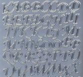 Zier-Sticker-Bogen-Alphabet-ABC-silber-126s