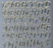Zier-Sticker-Bogen-Alphabet-ABC-silber/gold-126sg
