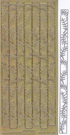 Zier-Sticker-Bogen-Palmränder / Bordüren-gold-1274g