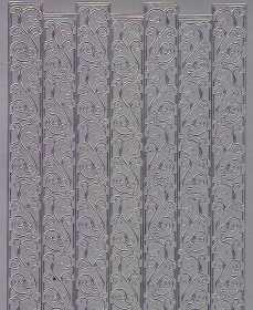 Zier-Sticker-Bogen-Ränder-Bordüren-Schnörkel-silber-1280s