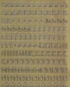 Zier-Sticker-Bogen-Alphabet-ABC -gold-1322g