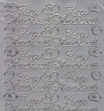 Zier-Sticker-Bogen-Zur Hochzeit-silber-1382s