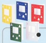 Folienkaschierte-Weihnachtskarten mit Ausstanzungen-Quadrat mit Tannenbaum-14204