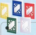 Folienkaschierte-Weihnachtskarten mit Ausstanzungen-Stern/Glocke-14212