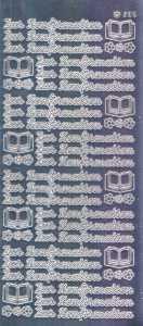 Zier-Sticker-Bogen-1421spfs-Spiegelfolie-Zur Konfirmation-silber