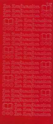 Zier-Sticker-Bogen-1421r-Zur Konfirmation-rot