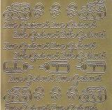 Zier-Sticker-Bogen-Zur Geburt-gold-1451g