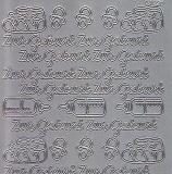 Zier-Sticker-Bogen-Zur Geburt-silber-1451s