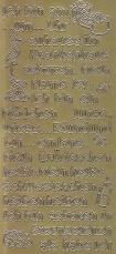 Zier-Sticker-Bogen-1454g-Scrapbook Baby-Geburt-gold