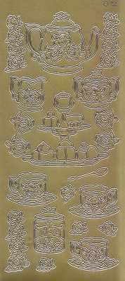 Zier-Sticker-Bogen -Kaffetafel-gold-1488g