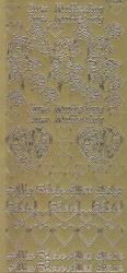 Zier-Sticker-Bogen-Zum Muttertag/Alles Liebe/Herzchen-gold-1508g