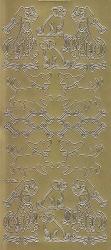 Zier-Sticker-Bogen-Hunde-gold-1518g