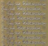 Zier-Sticker-Bogen-1523g-Auf ein Wiedersehen-gold