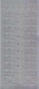 Zier-Sticker-Bogen-9850s-Frohe Ostern-silber