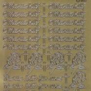 Zier-Sticker-Bogen-Maria bitt für uns-O Maria hilf-gold-1544g
