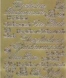 Zier-Sticker-Bogen-Herzlichen Glückwunsch-Viel Glück -gold-1546g