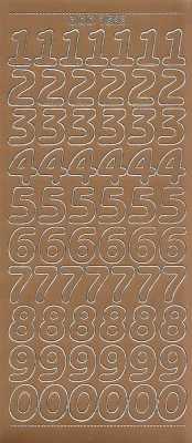 Zier-Sticker-Bogen-große Zahlen-kupfer-1568k