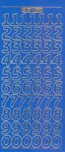 Zier-Sticker-Bogen-große Zahlen-blau-gold-1568blg