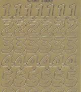 Zier-Sticker-Bogen-große Zahlen-gold-1568g