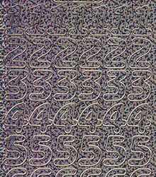 Zier-Sticker-Bogen-große Zahlen-holo-schwarz-gold-1568hoschwg