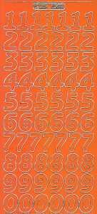 Zier-Sticker-Bogen-große Zahlen-orange-gold-1568org