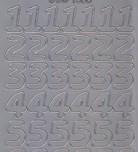 Zier-Sticker-Bogen-große Zahlen-silber-1568s
