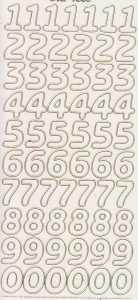Zier-Sticker-Bogen-große Zahlen-transparent/gold-1568trg