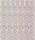 Zier-Sticker-Bogen-große Zahlen-transparent/silber-1568trs