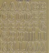 Zier-Sticker-Bogen-große Buchstaben-ABC-gold-1569g