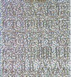 Zier-Sticker-Bogen-große Buchstaben-ABC-holo-silber-gold-1569hosg
