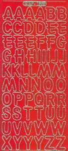 Zier-Sticker-Bogen-große Buchstaben-ABC-rot-gold-1569rg