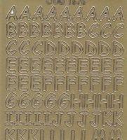 Zier-Sticker-Bogen-Alphabet-ABC-gold-1576g