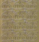 Zier-Sticker-Bogen-Jubiläumszahlen 65 -gold-1610g