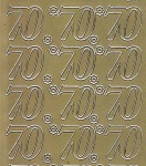 Zier-Sticker-Bogen-Jubiläumszahlen 70 -gold-1611g