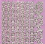 Zier-Sticker-Bogen-1670spfro-Spiegelfolie-Ecken und Ränder-rosa/gold