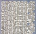 Zier-Sticker-Bogen-1670spfs-Spiegelfolie-Ecken und Ränder-silber/gold