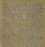 Zier-Sticker-Bogen-Viel Erfolg-Zum Namenstag-gold-1794g