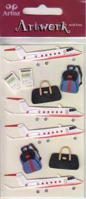 Artoz-3D Sticker-Artwork-Embellishments-90-03-Urlaub - Flugzeug