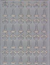 Zier-Sticker-Bogen-Christliches Motiv-Kelche-1871s