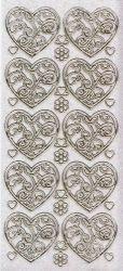 Micro-Glittersticker-Ornament-Herzen-transparent/gold-1900Gtrg