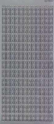 Zier-Sticker-Bogen-Ränder-Bordüren-silber-1932s