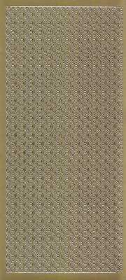 Zier-Sticker-Bogen-Ränder-Bordüren-Muschel-gold-1934g