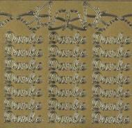 Zier-Sticker-Bogen-Danke-gold-194g