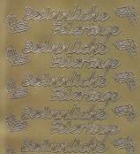 Zier-Sticker Bogen-1963g-Besinnliche Feiertage-gold
