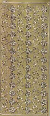 Zier-Sticker-Bogen-Glücksklee-Kleeblätter-gold-1977g
