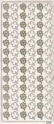 Zier-Sticker-Bogen-Glücksklee-Kleeblätter-transparent-gold-1977trg