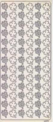 Zier-Sticker-Bogen-Glücksklee-Kleeblätter-transparent-silber-1977trs