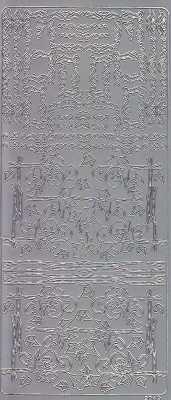 Zier-Sticker-Bogen-verschiedene Ecken & Ränder -silber-2049s