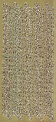 Zier-Sticker-Bogen-Ränder-Bordüren-Spitzen-gold-2090g